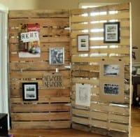 Come si riciclano i bancali: la parete divisoria