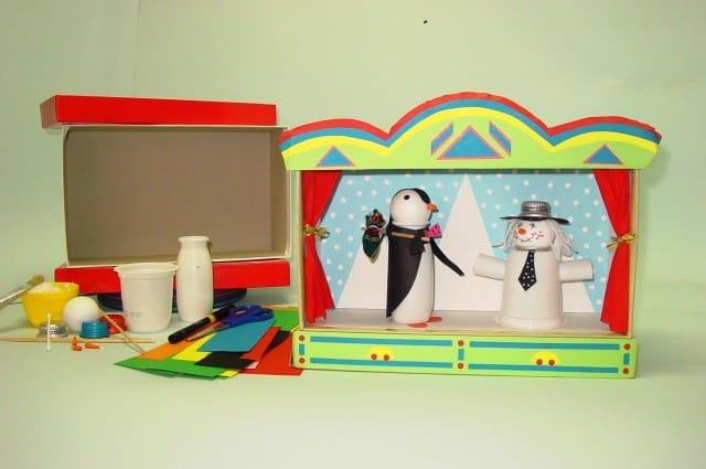 Costruire un teatrino per bambini riciclando non sprecare for Costo materiale per costruire una casa