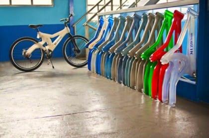 bici in plastica riciclata