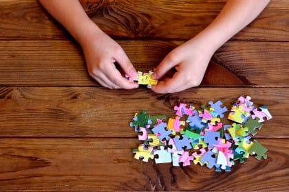 riciclo creativo tessere puzzle