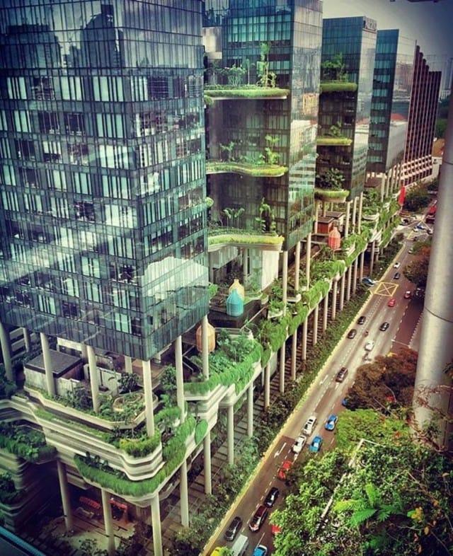Parkroyal un enorme giardino pensile nel cuore di - Albergo a singapore con piscina sul tetto ...