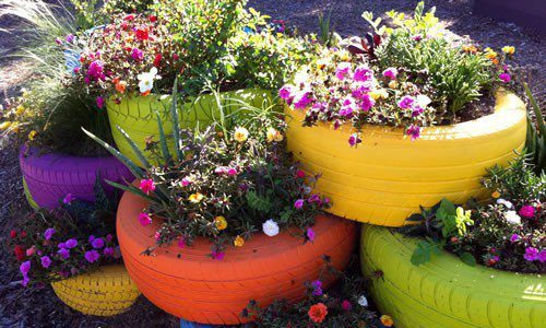 Riciclo creativo tante idee originali per decorare il for Idee originali per il giardino