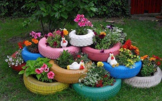 come decorare il giardino fai da te: riciclo e low cost | foto ... - Idee Per Decorare Un Giardino