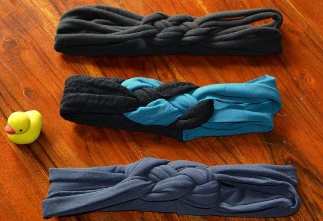 Fascia per capelli fai da te: basta una vecchia cravatta o un jeans che non usate più (foto)