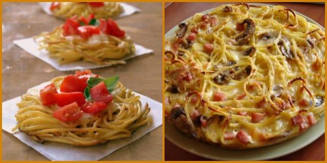 """Come riciclare la pasta avanzata: la ricetta della """"finta pizza"""""""