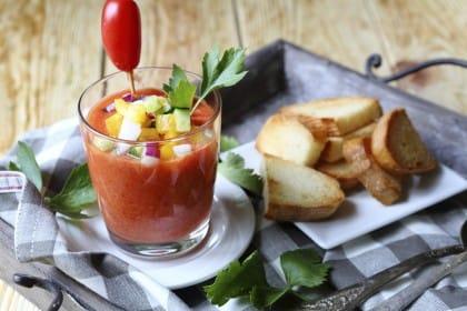 ricetta del gazpacho di pomodoro