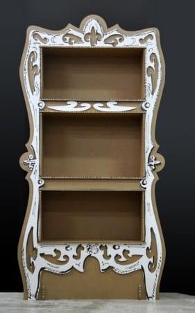 Riciclo creativo come costruire una libreria in cartone - Riciclare scatole ...
