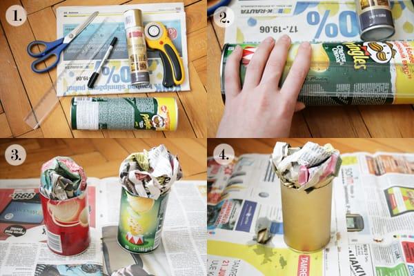 oggetti creativi fai da te : Tutorial fotografico del portapenne con lattina