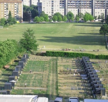 Orti urbani a Milano a via Chiodi nel quartiere Barona