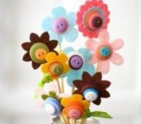 Bouquet con bottoni