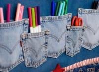 Vecchi jeans che non usiamo, così il tessuto si può riciclare e riutilizzare in tanti modi (foto)