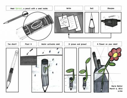 Sprout la matita che diventa pianta aromatica