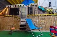 Vacanze low cost veranda roulotte