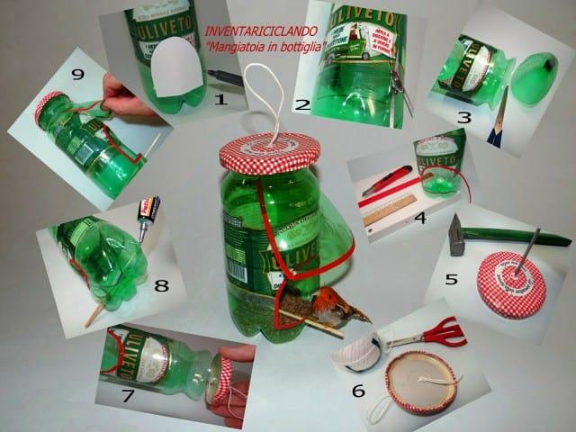 Bricolage Con Bottiglie Di Plastica.La Favola Incantata Di Ieva Raffaella Mangiatoia Fai Da Te Per