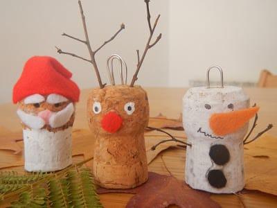 Addobbi natalizi fai da te da vecchi tappi di sughero - Creare decorazioni per natale ...