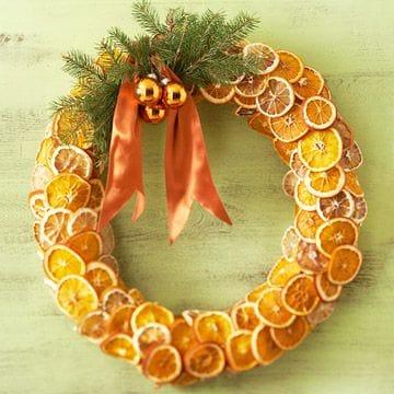 Ghirlanda con le arance  Non Sprecare