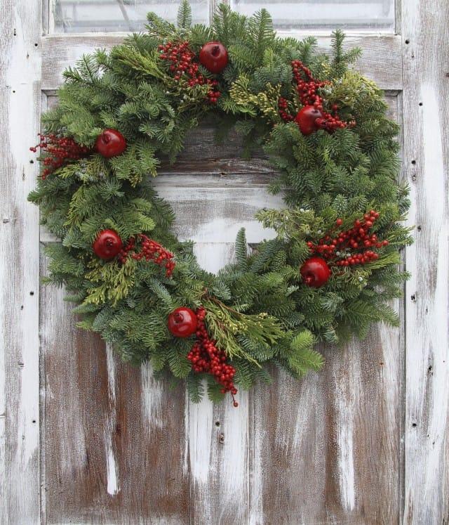Ghirlanda di natale non sprecare - Ghirlande per porte natalizie ...