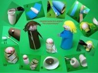 Presepe fai da te con materiale di riciclo, dalle bottigliette di plastica al polistirolo (foto)