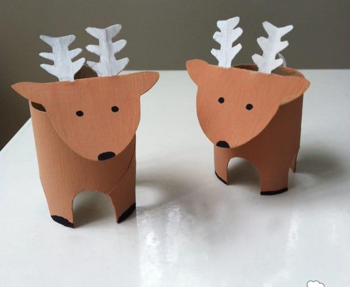 Lavoretti Di Carta Natale Bambini.Come Fare Una Renna Con Rotolo Di Carta Igienica Foto Non Sprecare
