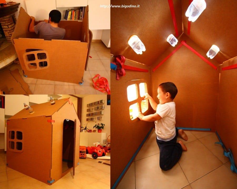 Ben noto Come fare una casetta di cartone per bambini - Non sprecare DA59