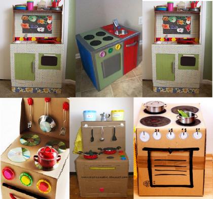 Cucina fai da te per bambini con le scatole di cartone - Non Sprecare