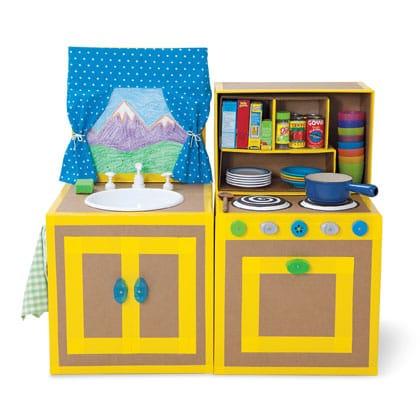 Cucina fai da te per bambini foto non sprecare - Cocinas de juguetes de madera ...
