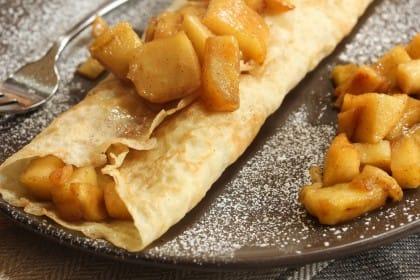 ricette crepes con le mele