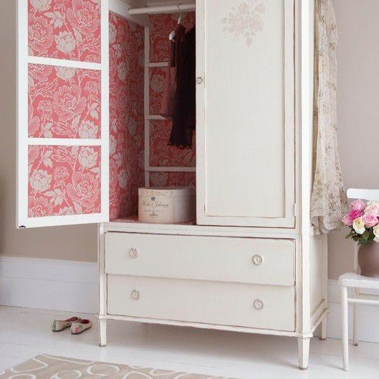 Riciclo creativo mobili idee curiose e low cost foto non sprecare - Como forrar un armario por dentro ...