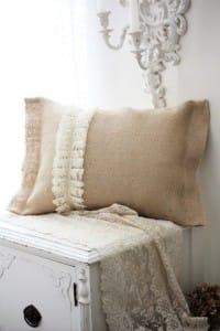 Riciclo creativo juta: i cuscini