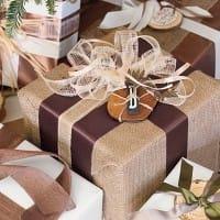 Riciclo creativo juta: carta regalo