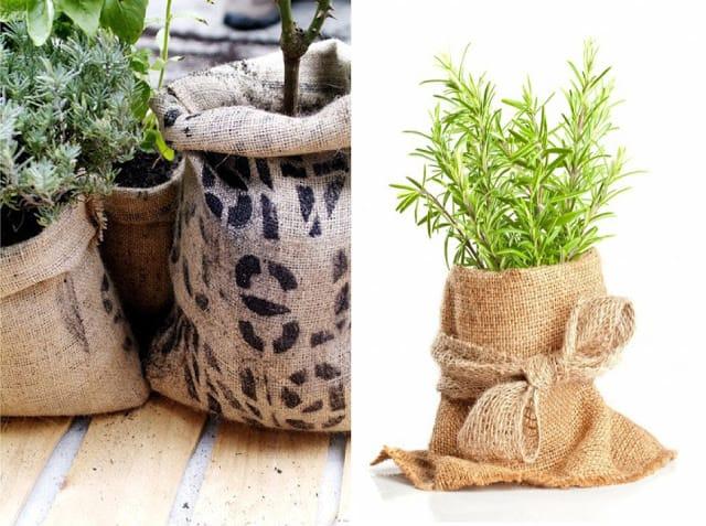 Riciclo creativo juta come riutilizzarla per arredare la - Arredare il giardino fai da te ...