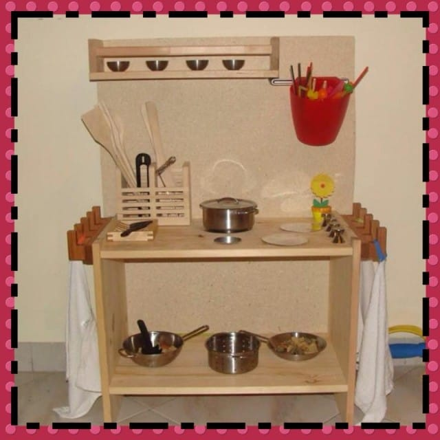 come costruire una cucina in legno per bambini low cost