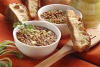 Lenticchie e crostini di pane
