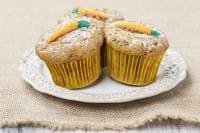 Muffin alle carote con spremuta d'arancia