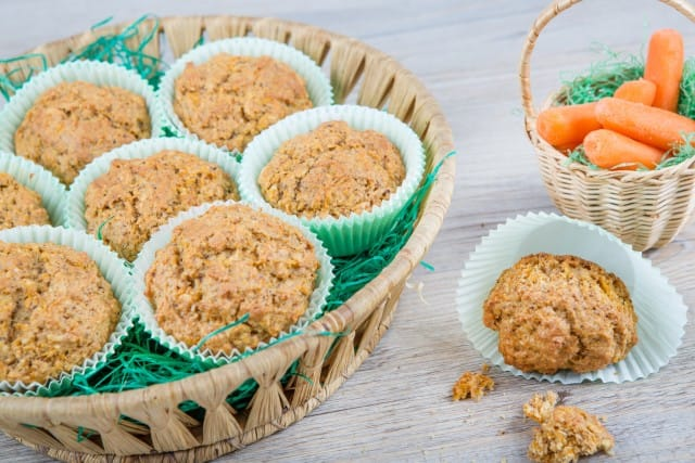 Muffin alle carote e spremuta di arancia: un pieno di energia e vitamine