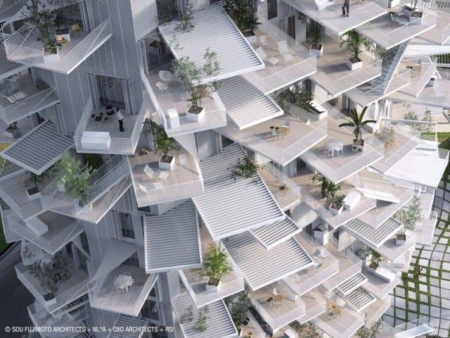 A Montpellier, il grattacielo a forma di albero con balconi-giardini pensili