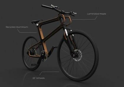 Boske, la bicicletta smontabile realizzata in legno e lattine riciclate