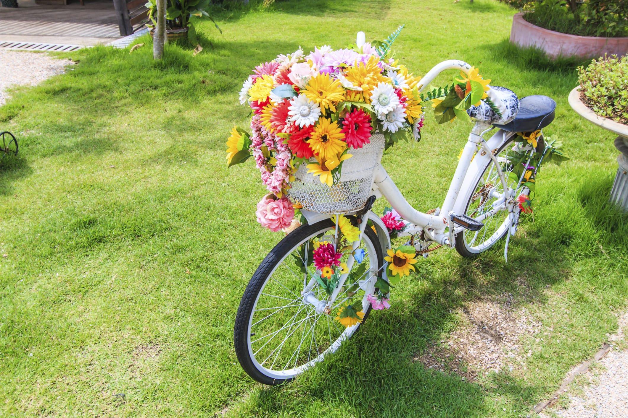 Giardino ecosostenibile e contro gli sprechi 5 consigli utili non sprecare - Bicicleta macetero ...
