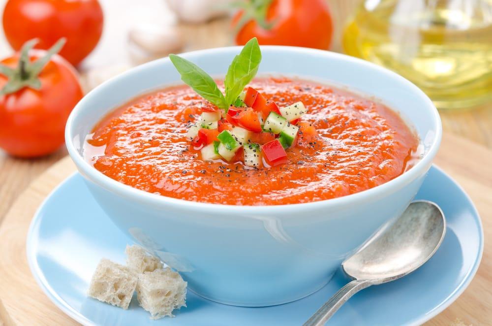 Ricetta Gazpacho Facile.Ricetta Gazpacho Di Pomodoro Non Sprecare