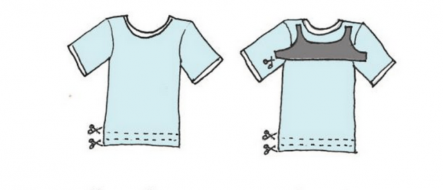 Riciclo creativo: come trasformare una vecchia t-shirt in un bikini