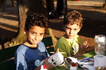 Laboratorio di riciclo creativo per bambini a Villa Ada a Roma
