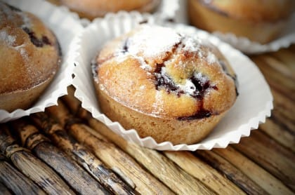 muffin alle ciliegie senza burro e latte: la ricetta