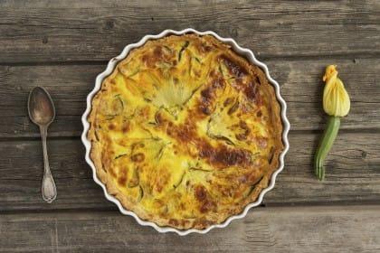torta salata di fiori di zucchine: la ricetta