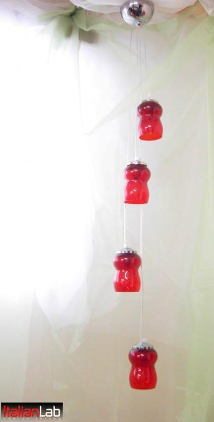Riciclo creativo bicchieri di vetro: diventano lampade