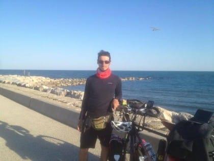 Consegna record in bicicletta da torino a marbella