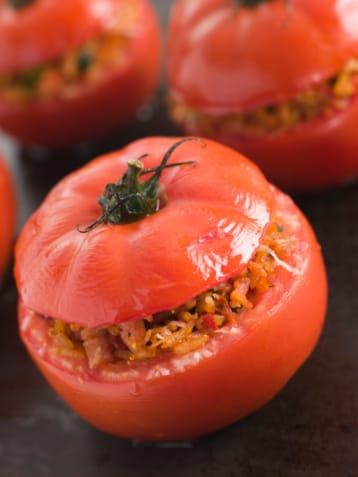 pomodori ripieni di riso e patate: la ricetta