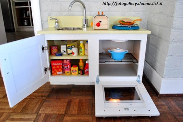 Come costruire una cucina in legno per bambini non sprecare - Cucina in legno per bambini ikea ...
