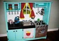 Cucina in legno per bambini: come costruirla con il fai da te e il riciclo creativo (foto)
