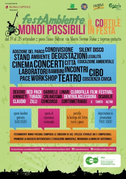 Festambiente Mondi possibili: a Roma fino al 28 settembre