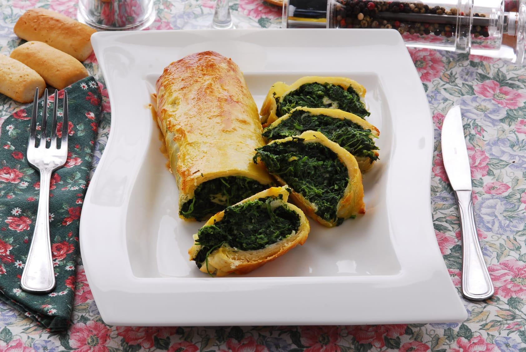 rotolo di pasta con ricotta e spinaci: la ricetta